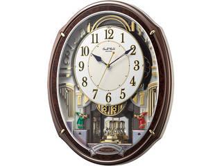 スモールワールド メロディ電波からくり掛時計(48曲入)  4MN545RH23