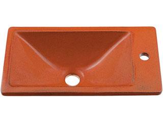 KAKUDAI/カクダイ 493-010-R 角型手洗器 (鉄赤)