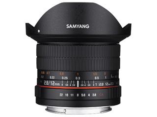 【納期にお時間がかかります】 SAMYANG/サムヤン 12mm F2.8 ED AS NCS FISH-EYE キヤノンM用 フルサイズ 【お洒落なクリーニングクロスプレゼント!】