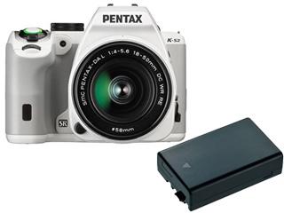 【純正スペア電池セット!】 PENTAX/ペンタックス PENTAX K-S2 18-50REキット(ホワイト)+純正バッテリーD-LI109セット【ks2set】