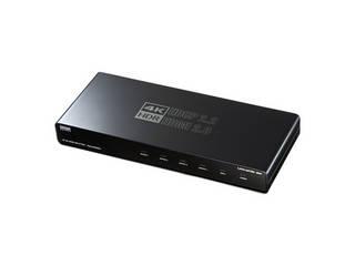 最大4K/60Hz出力に対応し、HDR映像信号とHDCP2.2にも対応したHDMI4分配器。 サンワサプライ 4K/60Hz・HDR対応HDMI分配器(4分配) VGA-HDRSP4