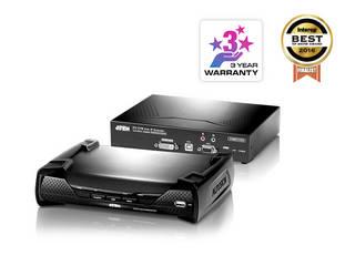 PCのコンソール(USBキーボード/マウス・DVIモニター)をイーサネット経由で延長できるDVI対応IP-KVMエクステンダーです。 ATEN USB DVI-I シングルディスプレイ IP-KVMエクステンダー KE6900