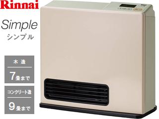 Rinnai/リンナイ【台数限定!ご購入はお早めに!】RC-N202S ガスファンヒーター Simple[パステルローズ] 【都市ガス専用】