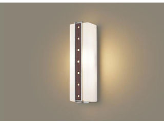 Panasonic/パナソニック LGWC81411LE1 LEDポーチライト ミディアムブラウン木調飾り【電球色】【明るさセンサ付】【壁直付型】