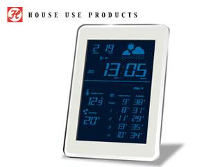 HOUSE USE PRODUCTS/ハウスユーズプロダクツ LCD表示 電波置き掛け時計 AIR-CONDITION-CLOCK Dayton (BLUE)