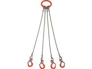 TAIYO/大洋製器工業 4本吊 ワイヤスリング 3.2t用×1.5m 4WRS 3.2TX1.5