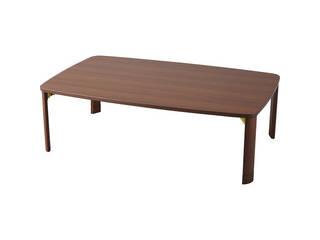 継脚折りたたみテーブル ブラウン TP-1275BR