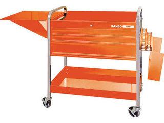 輝い 【組立・輸送等の都合で納期に4週間以上かかります】 【】ロールカート3段引き出し+2トレイ オレンジ BAHCO/バーコ 1470KC5:ムラウチ-DIY・工具