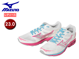 mizuno/ミズノ J1GB1635-05 ウエーブエアロ15 ランニングシューズ レディース 【23.0】 (ホワイト×シルバー)