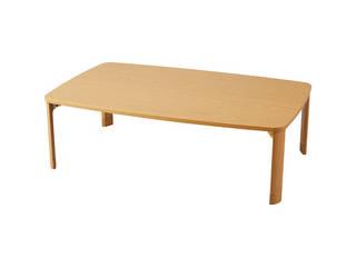 継脚折りたたみテーブル ナチュラル TP-1275NA