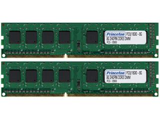 Princeton/プリンストン デスクトップPC用増設メモリ 8GB×2枚組 PC3-12800(DDR3-1600) 240pin DDR3 SDRAM PDD3/1600-8GX2