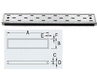 KAKUDAI/カクダイ 長方形排水溝 4206-150×900