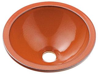 KAKUDAI/カクダイ 493-013-R 丸型手洗器 (鉄赤)