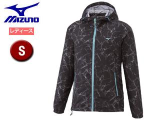 mizuno/ミズノ A2ME7301-09 ロッククラックプリントトレイルジャケット レディース 【S】 (ブラック)
