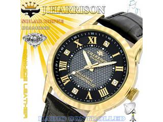 【納期にお時間がかかります】 J.HARRISON J.HARRISON 4石天然ダイヤモンド付・ソーラー電波時計 JH-085MGB