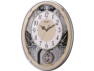 Small World/スモールワールド 4MN538RH23 【スモールワールドクラッセ】 電波掛時計(アミュージングタイプ) 夜眠る秒針/スワロフスキー 【RPS160324】