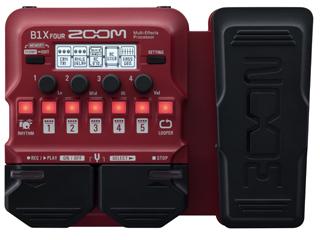 ZOOM/ズーム B1X FOUR Multi-Effects Processor マルチベースエフェクトプロセッサー エクスプレッションペダル搭載モデル