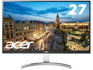 Acer/エイサー 納期未定 メーカー3年保証 IPSパネル採用 27型ワイドLED液晶ディスプレイ RC271Usmidpx シルバー&ブラック