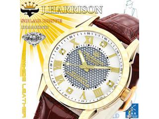J.HARRISON J.HARRISON 4石天然ダイヤモンド付・ソーラー電波時計 JH-085MGW