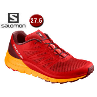 【在庫限り】 SALOMON/サロモン ■L40238000 SENSE PRO MAX トレイルランニングシューズ メンズ【27.5cm】(Fiery Red/Bright Marigold)