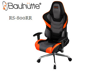 Bauhutte/バウヒュッテ RS-800RR-OR ゲーミングチェア (オレンジ&ブラック) メーカー直送品のため【単品購入のみ】【クレジット決済のみ】 【北海道・沖縄・離島不可】【日時指定不可】商品になります。