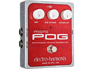 electro harmonix/エレクトロハーモニクス Micro POG ポリフォニックオクターブジェネレーター エフェクター 【国内正規品】