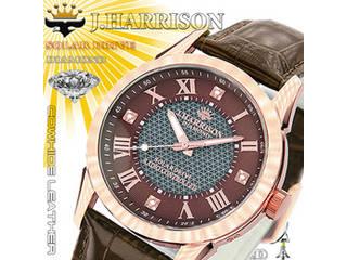 J.HARRISON J.HARRISON 4石天然ダイヤモンド付・ソーラー電波時計 JH-085BZ