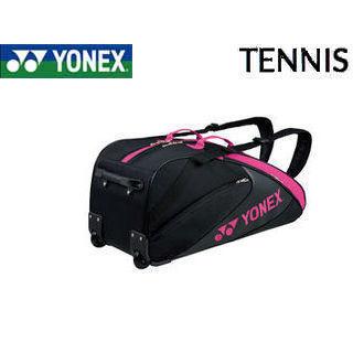 YONEX/ヨネックス BAG1732C-181 TEAM SERIES ラケットバッグ(キャスター付き・テニスラケット6本用) (ブラック×ピンク)