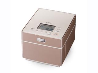 MITSUBISHI/三菱 NJ-XS108J-P 蒸気レスIHジャー炊飯器 備長炭 炭炊釜 【5.5合炊き】(テンダーロゼ)