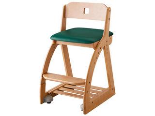 KOIZUMI/コイズミ 【SQUARE Chair/木製スクエアチェア】KDC-095NS DG ダークグリーン