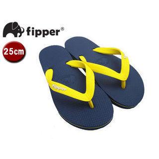 fipper/フィッパー FJ02-SK18 ビーチサンダル スリップ防止タイプ 天然ゴム製 【25cm(UK06)】 (ネイビー/イエロー)
