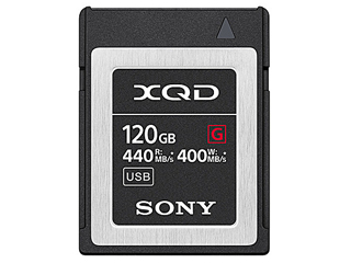 連続した高速連写、4K動画に適した大容量XQDメモリーカード(120GB) SONY/ソニー QD-G120F(120GB) XQDメモリーカード【Gシリーズ】