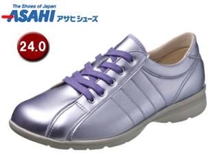 ASAHI/アサヒシューズ KS23363-1 快歩主義 L121AC レディースウォーキングシューズ 【24.0cm・3E】 (ラベンダー)