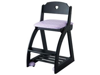 KOIZUMI/コイズミ 【Lovely Chair/木製ラブリーチェア】KDC-040BK HR ハートパープル