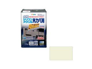 ASAHIPEN/アサヒペン 水性シリコンアクリル外かべ用 16kg ミルキーホワイト