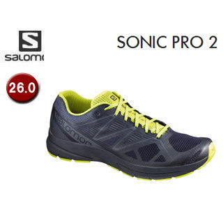 【在庫限り】 SALOMON/サロモン 【在庫限り】L39338800 FOOTWEAR SONIC PRO 2 【26.0】 (NAVY BLAZER/SULPHUR SPRING/OMBRE BLUE)