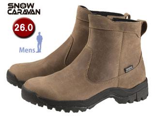 SNOW CARAVAN/スノーキャラバン 0023120 ウィンターシューズ SHC-20レザー (ライトブラウン)【26.0】【男性用】