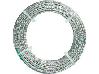 TRUSCO/トラスコ中山 ステンレスワイヤロープ ナイロン被覆 Φ1.5(2.0)mm×20 CWC15S200