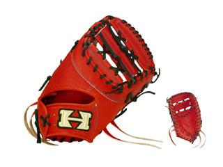 HI-GOLD/ハイゴールド PAG-302F 一塁手用硬式用ミット PAG DELUXE (ファイヤーオレンジ×ブラック)【右投げ用】