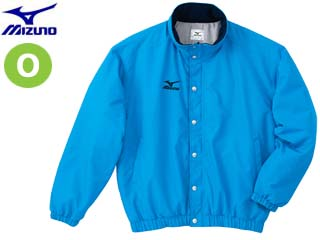 mizuno/ミズノ A60JF962-19 フード収納式 中綿ウォーマーキルトシャツ (サックス) 【Oサイズ】