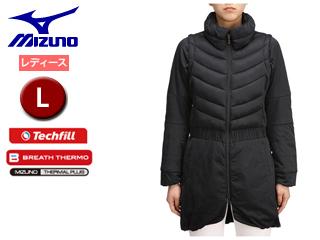 mizuno/ミズノ 52ME6705-09 ブレスサーモ テックフィル ムーブウォーマーロング丈 レディース 【L】 (ブラック)
