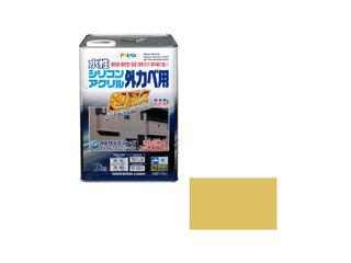 ASAHIPEN/アサヒペン 水性シリコンアクリル外かべ用 16kg シトラスイエロー