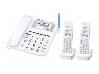 【nightsale】 Panasonic/パナソニック VE-E10DW-W デジタルコードレス電話機(子機2台) ホワイト