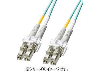 サンワサプライ OM3光ファイバケーブル LCコネクタ-LCコネクタ 3m HKB-OM3LCLC-03L