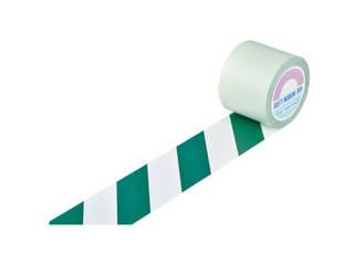 J.G.C./日本緑十字社 ガードテープ(ラインテープ) 白/緑(トラ柄) 100mm幅×20m 148164