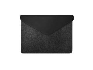 """MOZO Felt Laptop Pouch 13"""" Black on Black Surface用ケース MZESF13BB"""