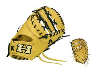 HI-GOLD/ハイゴールド PAG-302F 一塁手用硬式用ミット PAG DELUXE (イエロー×ブラック)【右投げ用】