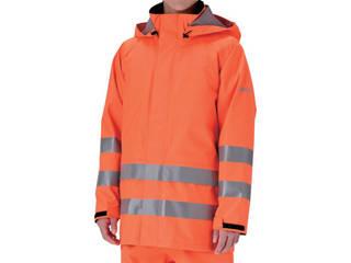 MIDORI ANZEN/ミドリ安全 雨衣 レインベルデN 高視認仕様 上衣 蛍光オレンジ Mサイズ RAINVERDE-N-UE-OR-M