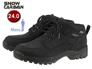 SNOW CARAVAN/スノーキャラバン 0023121 ウィンターシューズ SHC-21レザー (ブラック) 【24.0】【男性用】