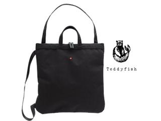 teddyfish/テディフィッシュ ♪3WAYナイロントートバッグ【ブラック】■手持ち/肩がけ/バックパック■コーデュラナイロン